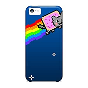 Hot Snap-on Nyan Cat Hard Cover Case/ Protective Case For Iphone 5c
