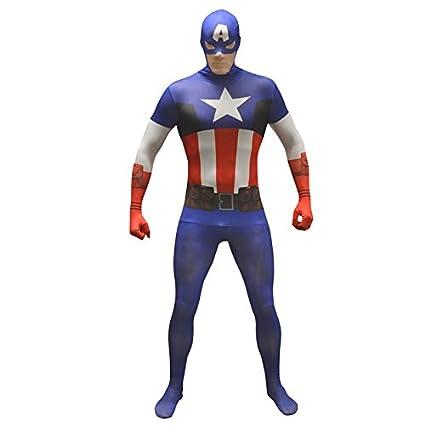 Amazon.com: Morphsuits Disfraz de capitán américa morphsuit ...
