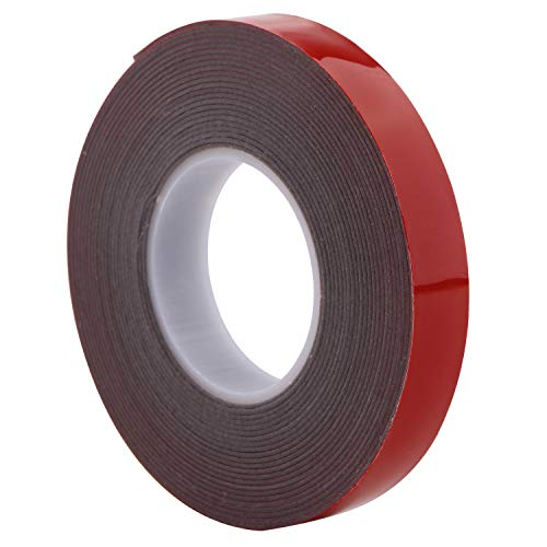 Molding Tape - AIICIOO Super Strength Molding Tape Double Sided Adhesive 1/2 in x 15 ft Red