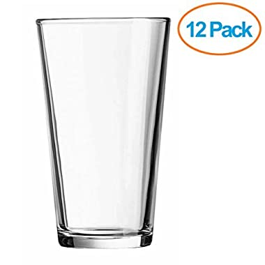 Chefs Star 16-Ounce Beer Glasses (Pack of 12)