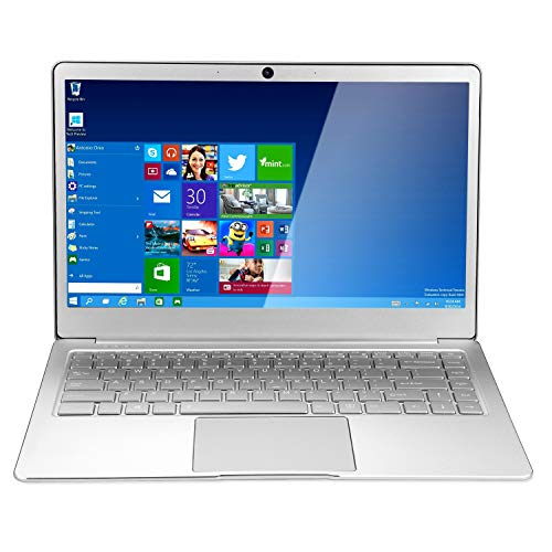 Nrpfell 14 Pulgadas 8GB RAM DDR4 256GB SSD Notebook Intel Celeron J4105 Quad Core Laptop con Pantalla FHD 1920X1080 Computadora PortáTil (Enchufe de la UE)