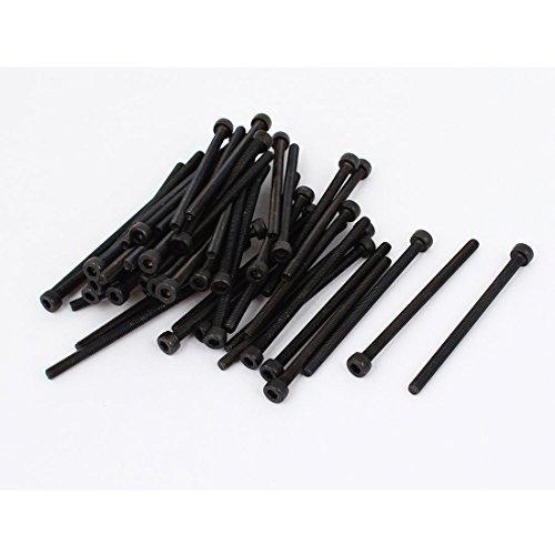M3 x 50 legierter Stahl Sechskantschraube Sechskantmaschinenschraube Schwarz 50Pcs, Modell: a15030300ux0020, Tools & Baumarkt