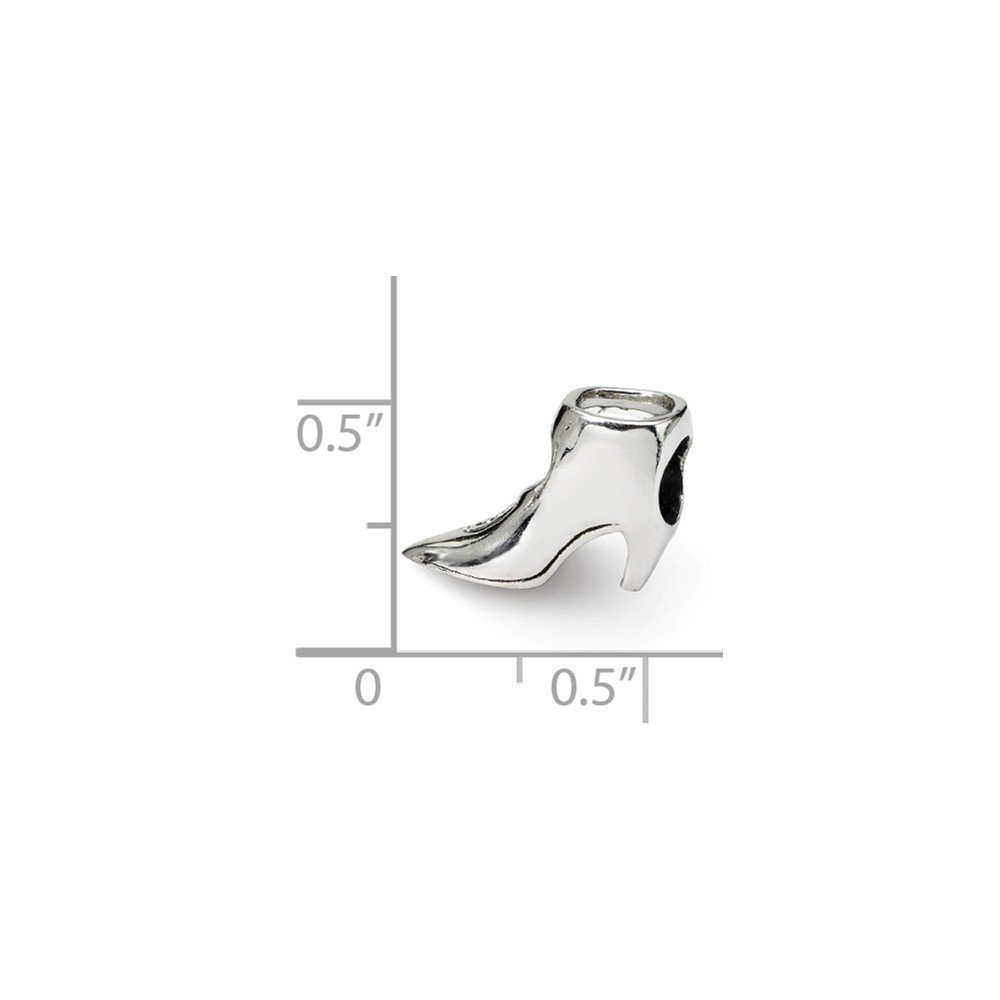 13.6mm x 10mm Jewel Tie 925 Sterling Silver Reflections Boot Bead