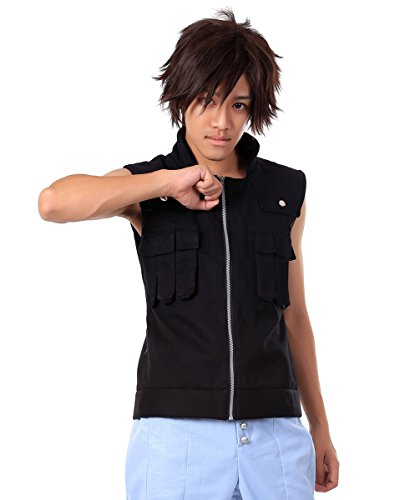 ICEMPs Cosplay Costume Hidden Leaf Foundation Anbu Black Ops Sai Vest (Anbu Black Ops Cosplay Costume)