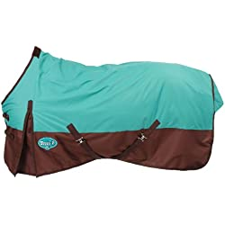 Tough 1 600 Denier Waterproof Horse Sheet, Turquoise/Brown, 81-Inch