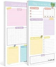 The Yellow Clip - Set de planner diario y lista de tareas, planificador por día sin fecha, daily desk planner
