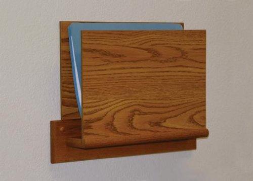 Wooden Mallet OCHS15-1 Medium Oak Single Pocket HIPAA Wall Chart Holder