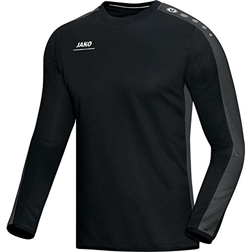JAKO Herren Sweat Striker Sweatshirt, Schwarz/Grau, L