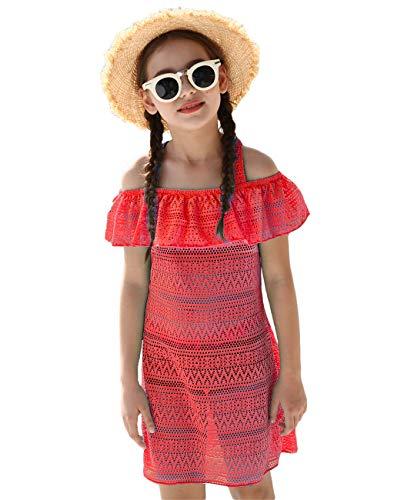 Girls' Cover-ups Swimsuit Off Shoulder Beach Dress Top