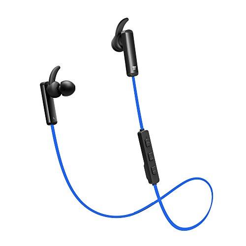 TaoTronics Bluetooth Headphones Wireless Earphones for Running with Mic Bluetooth 4.1, aptX, CVC 6.0 Noise Cancelling, Sweat Proof