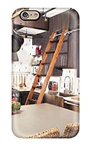 4935063K72515118 Hot Snap-on Eclectic Kitchen With Ladder To Reach Upper Cabinets Hard Cover Case/ Protective Case For Iphone 6
