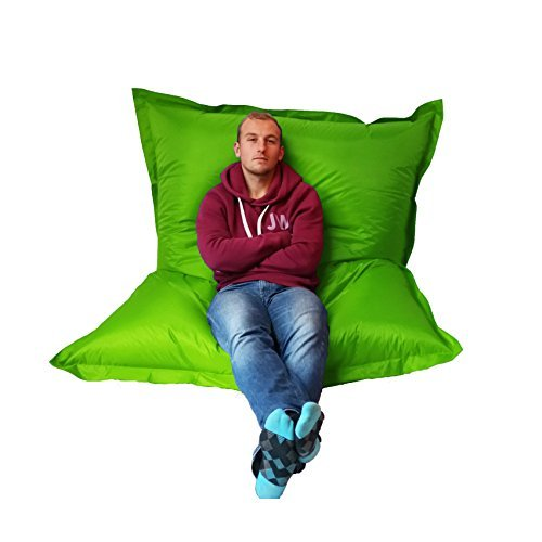 Extra Large Giant Beanbag Lime Green - Indoor & Outdoor Bean Bag - MASSIVE 180x140cm - great for Garden Outside-In