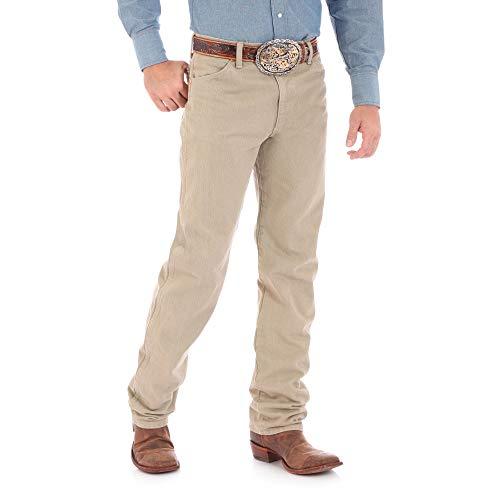 (Wrangler Men's 13MWZ Cowboy Cut Original Fit Jean, Khaki, 28W x 36L)