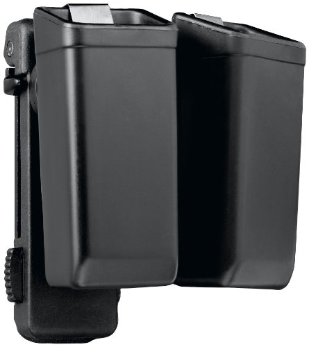 TRIPLE K Double Swivel Universal Magazine Holder with Low Profile Belt Clip, Black ()