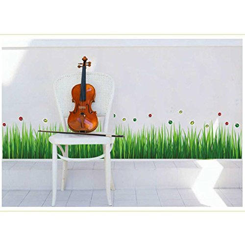God Made Grass (Hatop New Creative Grass Skirting Stickers Removable Mural PVC Home Decor)