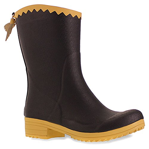 Sanita Splash from The Past Black Womens Rain Boots Size 35M