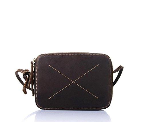 Great Strange Damen kleine quadratische Tasche / Leder Raute einzelnen Schultertasche, Retro Messenger Tasche, Einkaufen / Reisen, verschleißfesten langlebig