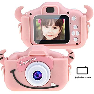 Tocosy Kids Digital Camera HD 12MP Mini Selfie Little Child Camcorder Video Record Photography Toys Birthday Gifts for Girls Boys Toddlers Age 3-15 (Dual Camera, Horn Pink): Camera & Photo
