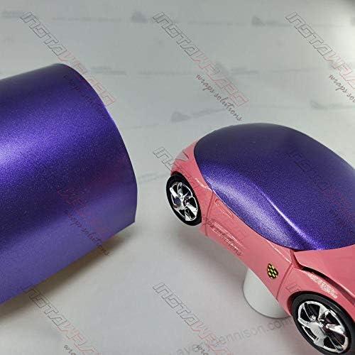 Avery SW900 Satin Purple Metallic | 566-M | Vinyl CAR WRAP Film (5ft x 20ft (100 Sq/ft)) w/Free-Style-It Pro-Wrapping Glove