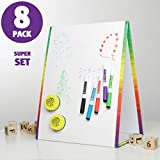 Magnetic Board Tabletop Kids Easel - Dry Erase Whiteboard Stand, Markers & Eraser. Classroom Easel for Teachers, Portable Magnet Board for Toddlers, Educational Toy for Writing & Drawing