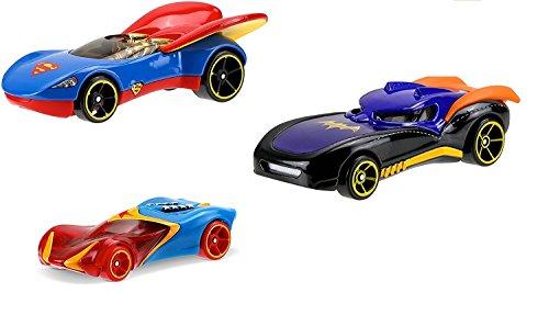 Hot Wheels DC Comics Superhero Girls Vehicle Bundle (3 Pack --Supergirl, Batgirl and Wonder Woman )