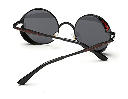 GAMT Retro Hippie Circle Sunglasses Round Metal Frame for Men and Women 5