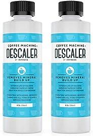 Descaler (2 Pack, 2 Uses Per Bottle) - Made in the USA - Universal Descaling Solution for Keurig, Nespresso, D
