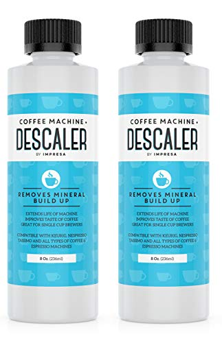 Descaler (2 Pack, 2 Uses Per Bottle) - Made in the USA - Universal Descaling Solution for Keurig, Nespresso, Delonghi and All Single Use Coffee and Espresso Machines by Impresa Products (Image #3)