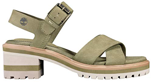(Timberland Women's Violet Marsh Cross Band Sandal Olive Nubuck 10 B US)