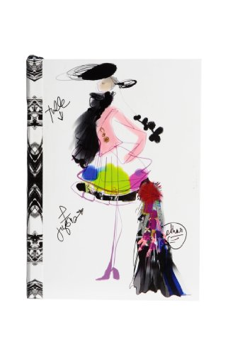 (Christian Lacroix Fashion Sketch Layflat Notebook, 4.12 x 5.75 Inches, 128 Ruled Pages, Multicolored (19345))