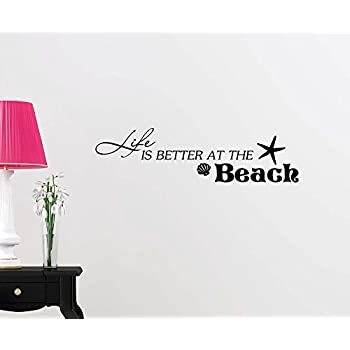 Wall Decal All You Need Is Love And The Beach Ocean Inspired Cute - How to get vinyl lettering to stick to textured walls