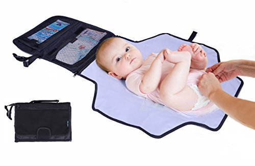 Portable Diaper Changing Pad By Lebogner - Baby Changing Station, Waterproof Clutch Bag With Neoprene Fabric For A Softer Feel And Pockets For Diaper Changing Accessories, Infant Travel Diaper Mat Kit