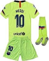 e7802899d Boys Newkidsjs Barcelona #10 Messi Kids and Youth Soccer Jersey & Shorts &  Socks 2018-2019 Home ...