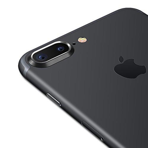 Sakula Camera Lens Protector Plating Aluminum for iPhone 7 Plus iPhone 8 Plus Cameral Case Cover Ring Black