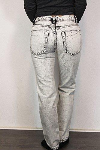 ... GLAMOROUS Damen Jeans Gr 36 Grau Weiß Denim Used-Look Hose Pants  O133  ... e3cbc3aaf7