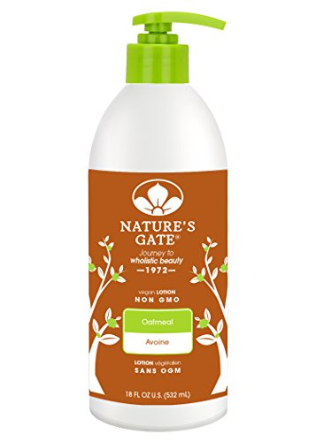 Nature's Gate Skin Therapy Colloidal Oatmeal for Itchy, Dry, Sensitive Skin, 18 Ounce (Pack of 3) Echinacea Body Lotion