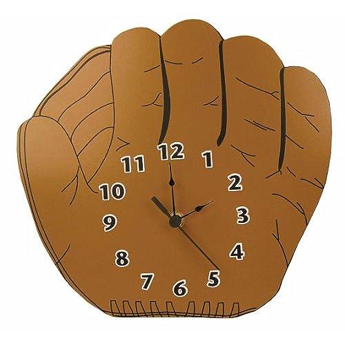 Trend Lab Baseball Glove Shaped Wall Clock Brown