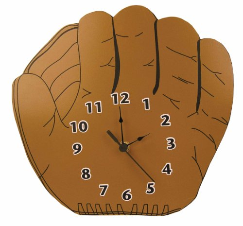 - Trend Lab Baseball Glove Shaped Wall Clock, Brown