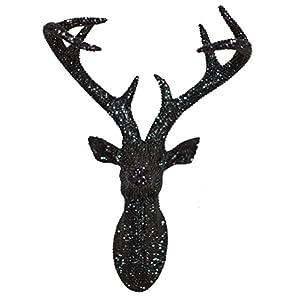 Arthouse, Black Star Studded Faux Stag Deer Head, Modern Home Décor