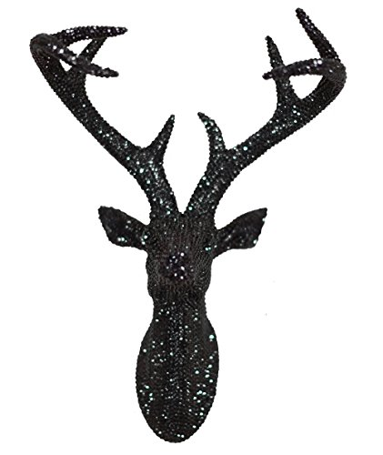 Arthouse, Black Star Studded Faux Stag Deer Head, Modern Home Décor