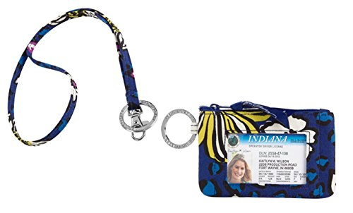Vera Bradley Zip Id Case and Lanyard in African Violet