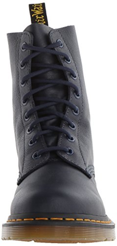 Dr. Martens Mujeres Pascal Leather Combat Bota Dress Blues