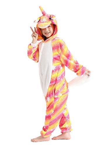 Children's Animal Pajamas,One Piece Onesie Sleepwear Cosplay Costumes for Halloween (95, Brilliant Starry Sky)