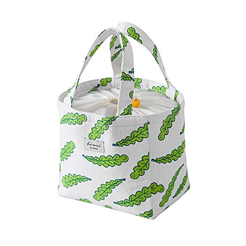 Belloc 22x18cm Waterproof Thermal Picnic Cooler Lunch Bags For Women Kids Men Insulated Thermal Canvas Box Tote Food Portable Thicken Lunch Handbag (Green) by Belloc Home & Garden (Image #1)