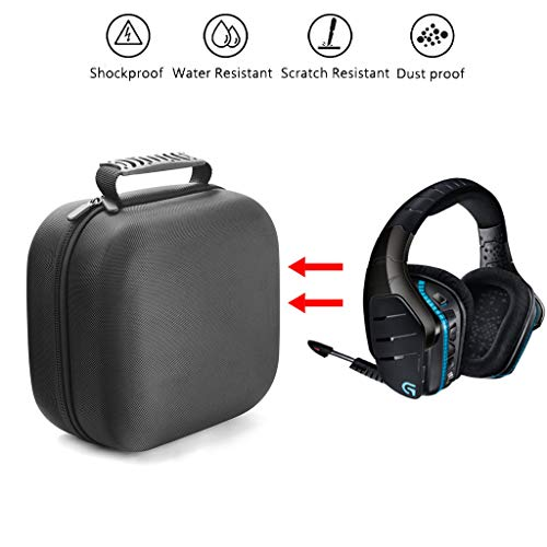 LAIHUI Protective Gaming Headset Travel Case Bag, Fits Astro Gaming G933, G430, G930, G230, G35, Beats and Microphone with Wired or Wireless Headphones (Black)