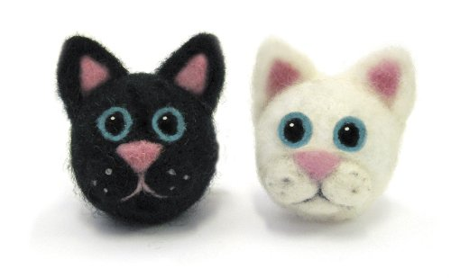 Dimensions Needlecrafts Round and Wooly Cats Needle Felting