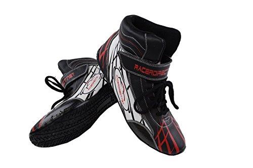 Racerdirect.net Mid Top Driving SFI3.3/5 Race Shoes, Men's Size 13, Womens Size 15