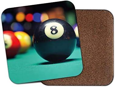 1 posavasos de bolas de billar impresionante – Snooker 8 Ball Pub ...