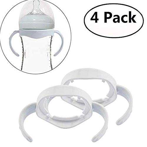(Bottle Grip Handle for Avent Natural Wide Mouth PP Glass Feeding Baby Bottle Accessories)