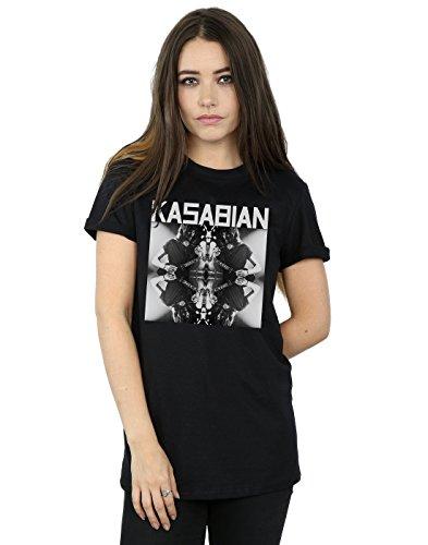 Kasabian Women's Solo Reflect Boyfriend Fit T-Shirt Medium Black -